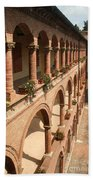 Cloistered Courtyard Beach Towel