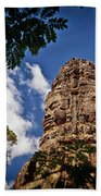 Cloning Out Tourists At Ta Prohm Temple, Angkor Archaeological Park, Siem Reap Province, Cambodia Beach Towel