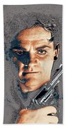 Close Up James Cagney As Gangster  Rocky Sullivan In Angels With Dirty Faces 1938-2008 Beach Towel