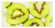 Close Up Of Kiwi Slices Beach Sheet