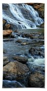 Close Up Of Reedy Falls In South Carolina Beach Towel