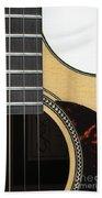 Close-up Of Steel-string Guitar Beach Towel