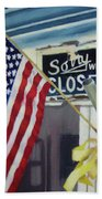 Closed For Business Beach Towel