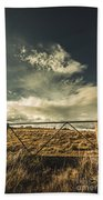 Closed Gates And Open Paddocks Beach Towel