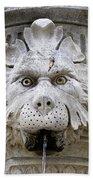 Closeup Of A Public Fountain In Dubrovnik Croatia Beach Towel