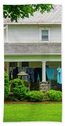 Clothes On The Front Porch Beach Towel