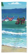 Clothesline At The Beach Beach Towel