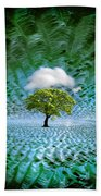 Cloud Cover Recurring Beach Towel