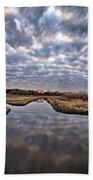 Cloud Covered River 2 Beach Towel