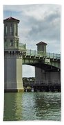 Clouds Above The Bridge Of Lions Beach Towel
