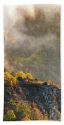 Clouds Above The Crest Of The Mountain Beach Towel