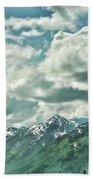 Clouds Alaska Mtns  Beach Towel