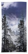 Clouds And Snow Swirling Beach Towel