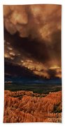 Clouds And Thunderstorm Bryce Canyon National Park  Beach Towel