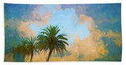 Clouds On The Loop Beach Towel
