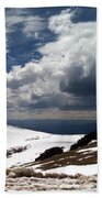 Clouds On The Mountain Beach Towel