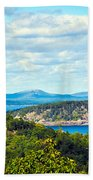 Clouds Over Acadia Beach Towel