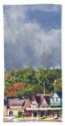 Clouds Over Boathouse Row Beach Towel