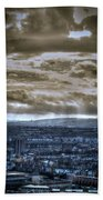 Clouds Over Bristol Hdr Split Toning Beach Towel