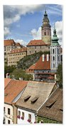 Clouds Over Cesky Krumlov Beach Towel