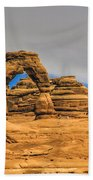 Clouds Over Delicate Arch Beach Towel
