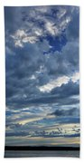 Clouds Over English Bay From Sunset Beach Vancouver Beach Towel
