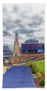 Clouds Over Gillette Stadium Beach Towel