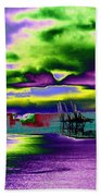 Clouds Over Harbor Island Beach Towel