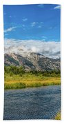 Clouds Over The Grand Tetons Beach Towel