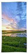 Clouds Over The Marsh 4 Beach Towel