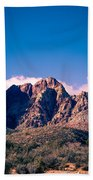 Clouds Over The Mountain Beach Towel