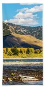 Clouds Over The Teton Foothills Beach Towel