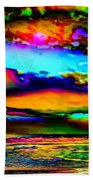 Clouds With Attitude Beach Towel