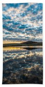 Cloudscape - Reflection Of Sky In Wichita Mountains Oklahoma Beach Towel
