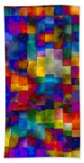 Cloudy Cubes Beach Towel