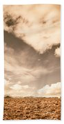 Cloudy Plain Beach Towel