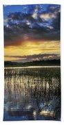 Cloudy Sunrise Beach Towel