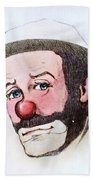 Clown Emmett Kelly Beach Towel