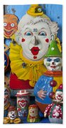 Clown Toys Beach Towel by Garry Gay