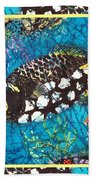 Clown Triggerfish-bordered Beach Towel