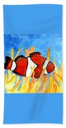 Clownfish Marine Sealife Art Print Beach Towel