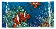 Clowning Around - Clownfish Beach Towel