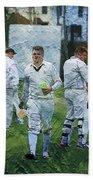 Club Cricket Tea Break Beach Towel