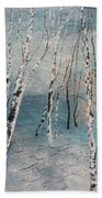 Cluster Of Birches Beach Towel