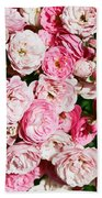 Cluster Of Roses  Beach Towel