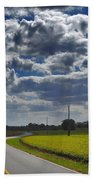 Clyde Fitzgerald Road Scenery Beach Towel