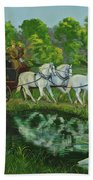 Coach And Four In Hand Beach Towel