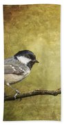 Coal Tit Periparus Ater Beach Towel