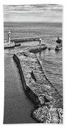 Coast - Whitby Harbour Beach Towel