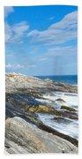 Coastal Maine Beach Towel
